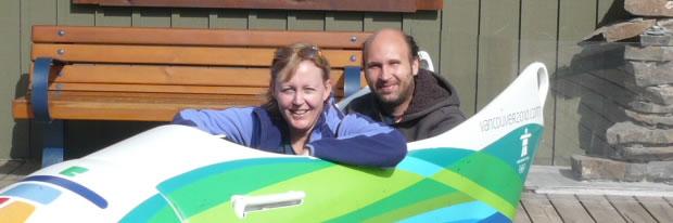 In de bobslee in Whistler in Canada