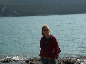 Linda bij Abraham Lake