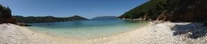 Panorama foto Antisamos privéstrand