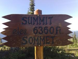 Mount Revelstoke NP, het lijkt hoog maar is maar 1908 meter.