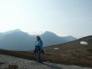 Saskatchewan gletsjer op de top van de wereld