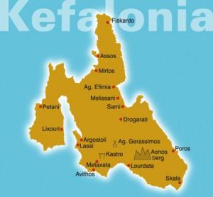 Kaart van Kefalonia